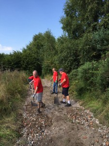 Santander UK Team in Willowbank Wood