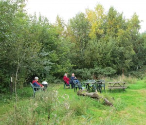 Enjoying the picnic area by Seldom Pond Photo by Fred Izzett