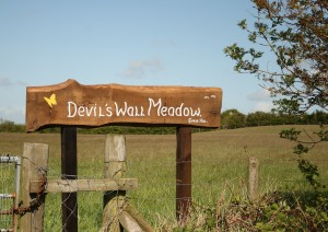 New Sign for Devil's Wall Meadow Photo by Su Haselton